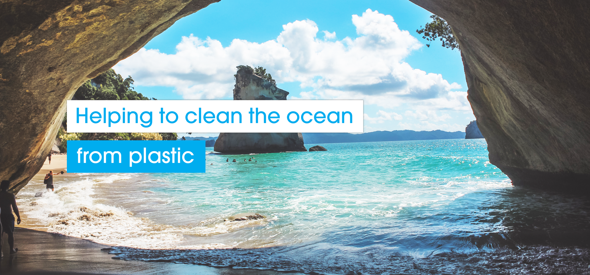 Helping to clean the ocean from plastic